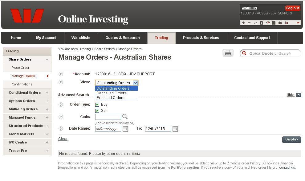 Manage Orders Shares
